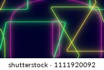 abstract dark colorful neon... | Shutterstock . vector #1111920092