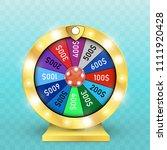 fortune wheel vector background.... | Shutterstock .eps vector #1111920428