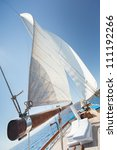 Boat Sailing In Aegean Sea