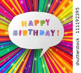 Happy Birthday Card On Colorful ...