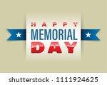 happy memorial day banner.... | Shutterstock .eps vector #1111924625