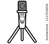 condenser microphone with tripod | Shutterstock .eps vector #1111926026