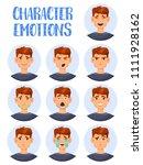 cartoon man heads showing...   Shutterstock .eps vector #1111928162