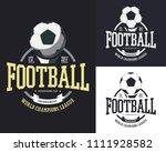 soccer t shirt print with ball... | Shutterstock .eps vector #1111928582