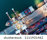 cargo container ship at the...   Shutterstock . vector #1111931462