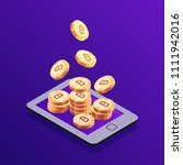 isometric concept bitcoin... | Shutterstock .eps vector #1111942016