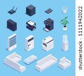 isometric set of office... | Shutterstock .eps vector #1111942022