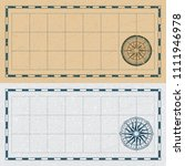 old map with wind rose compass. ... | Shutterstock .eps vector #1111946978
