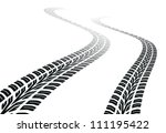 winding trace of the tires | Shutterstock .eps vector #111195422