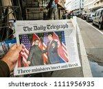 paris  france   june 13  2018 ... | Shutterstock . vector #1111956935