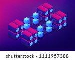 isometric cloud mining concept. ...   Shutterstock .eps vector #1111957388