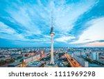 aerial view of berlin skyline... | Shutterstock . vector #1111969298