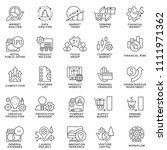 icons of business management... | Shutterstock .eps vector #1111971362