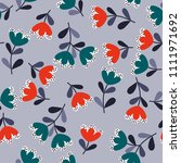 lovely seamless floral pattern... | Shutterstock . vector #1111971692