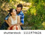 close up portrait of attractive ... | Shutterstock . vector #1111974626