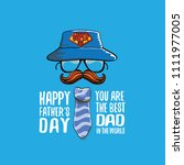 cartoon happy fathers day... | Shutterstock .eps vector #1111977005