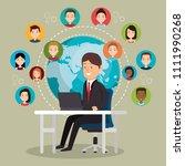 community social media people | Shutterstock .eps vector #1111990268