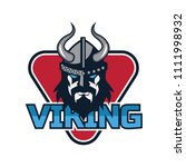 viking warrior logo  vector... | Shutterstock .eps vector #1111998932