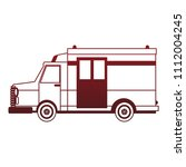 ambulance emergency vehicle red ... | Shutterstock .eps vector #1112004245