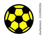 football icon  vector soccer... | Shutterstock .eps vector #1112004326