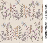 floral seamless pattern | Shutterstock . vector #111200435