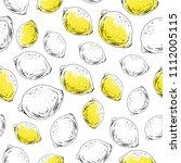 hand drawn seamless pattern.... | Shutterstock .eps vector #1112005115