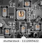 macro photo of circuit board... | Shutterstock . vector #1112005622