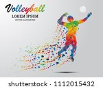 visual drawing volleyball sport ... | Shutterstock .eps vector #1112015432