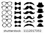gentleman photo booth vector... | Shutterstock .eps vector #1112017352
