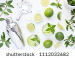 mojito cocktail alcohol bar... | Shutterstock . vector #1112032682