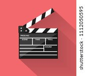 realistic cinema clapperboard... | Shutterstock .eps vector #1112050595