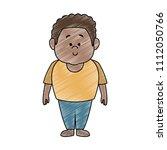 afro father cartoon scribble | Shutterstock .eps vector #1112050766