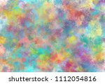 abstract watercolor digital art ... | Shutterstock . vector #1112054816