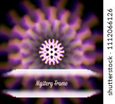 mystic shiny card with round... | Shutterstock .eps vector #1112066126