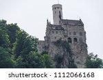 old castle lichtenstein on a... | Shutterstock . vector #1112066168