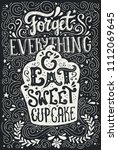handdrawn lettering poster with ... | Shutterstock .eps vector #1112069645