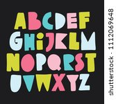 colourful alphabet for your... | Shutterstock .eps vector #1112069648