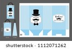 black hat  mustache and bow tie.... | Shutterstock .eps vector #1112071262