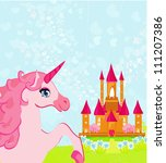 fairytale landscape with pink... | Shutterstock .eps vector #111207386
