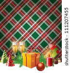 bright christmas background in... | Shutterstock .eps vector #111207455
