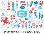 set of ocean design elements  ... | Shutterstock .eps vector #1112081702
