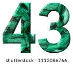 arabic numeral 43  forty three  ... | Shutterstock . vector #1112086766