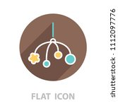 baby crib hanging toy icon line  | Shutterstock .eps vector #1112097776