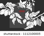 vector template of cocoa tree... | Shutterstock .eps vector #1112100005
