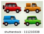 funny vector cars vehicle set | Shutterstock .eps vector #111210338
