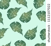 seamless green leaves... | Shutterstock .eps vector #1112107022