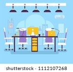 coworking office workplace for...   Shutterstock . vector #1112107268