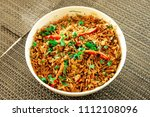 delicious indian rice dish ... | Shutterstock . vector #1112108096