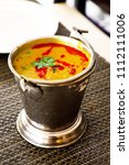 north india food tadka dal in... | Shutterstock . vector #1112111006