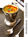 north india food tadka dal in... | Shutterstock . vector #1112111012